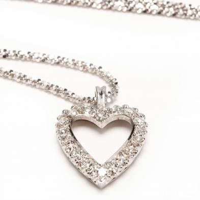 14kt-white-gold-and-diamond-heart-pendant-necklace