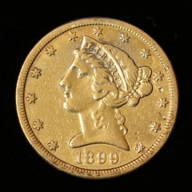 1899-s-5-gold-liberty-head-half-eagle