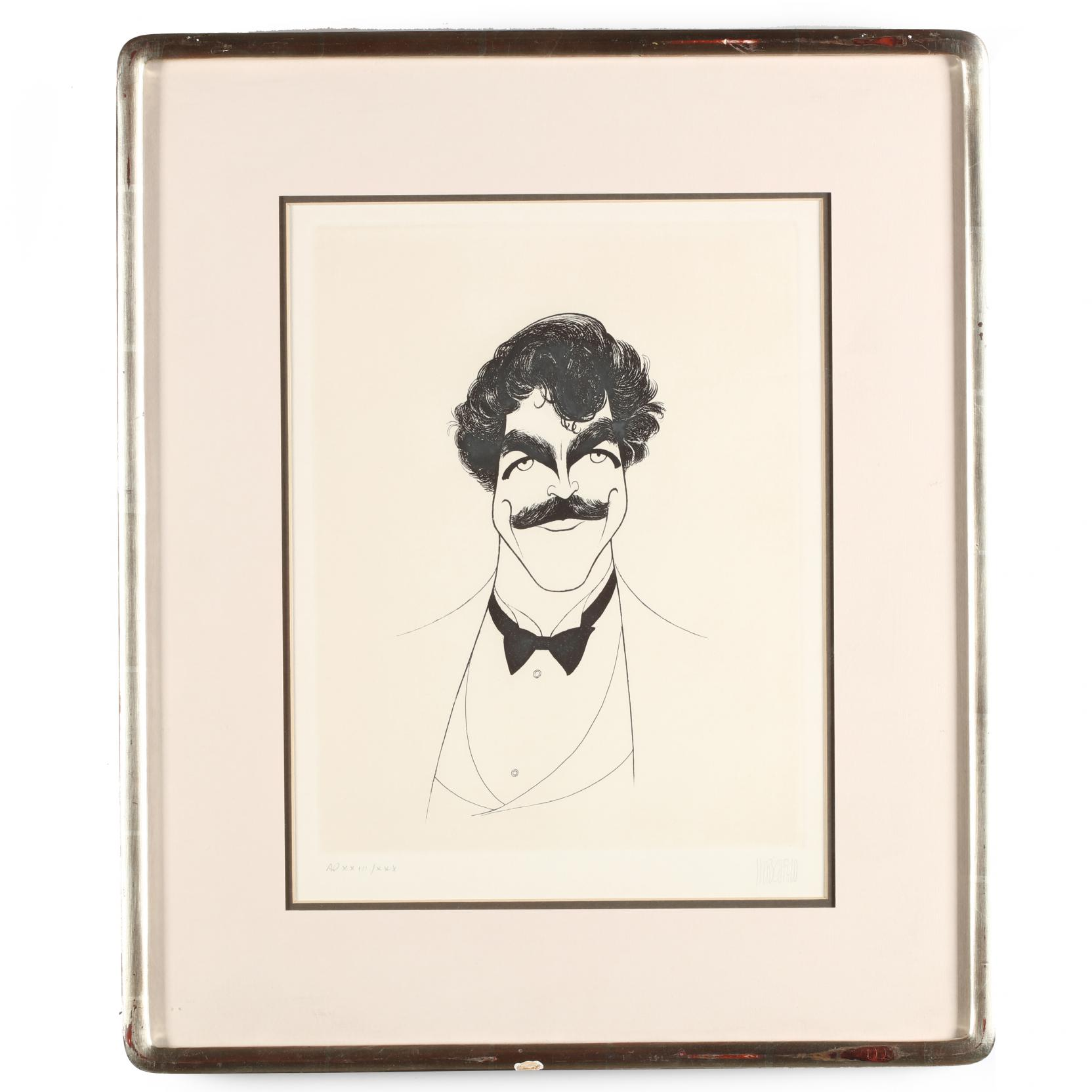al-hirschfeld-ny-1903-2003-i-tom-selleck-i