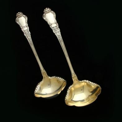 two-gorham-old-baronial-sterling-silver-soup-ladles