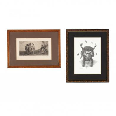two-prints-featuring-plains-indians