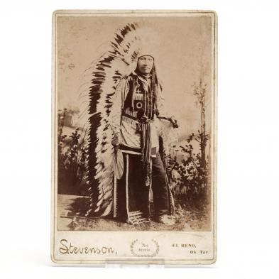 cabinet-card-portrait-of-a-plains-indian-in-chief-s-war-bonnet