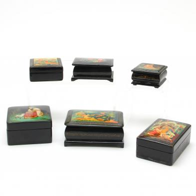 six-russian-lacquered-boxes