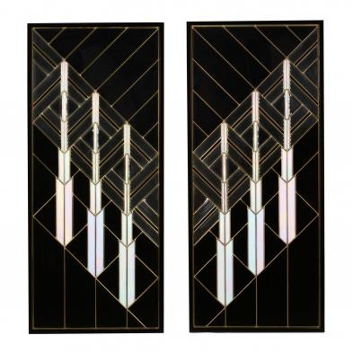 pair-of-art-deco-revival-stained-glass-panels
