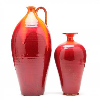 two-a-v-smith-art-pottery-vases