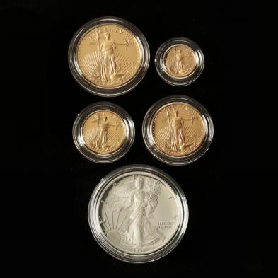 1995-w-american-eagle-10th-anniversary-gold-and-silver-five-coin-set