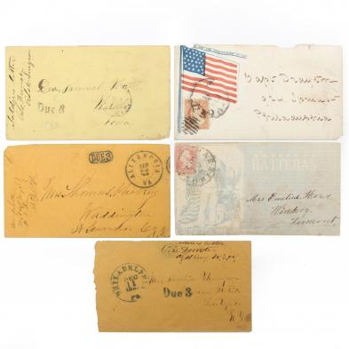 five-postally-used-union-soldiers-covers