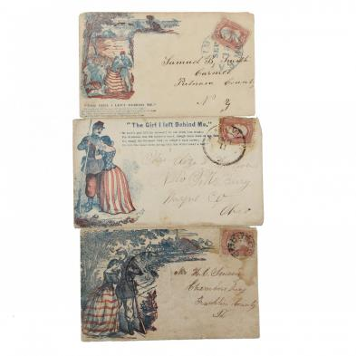 three-postally-used-union-covers-featuring-a-soldier-s-farewell-motif