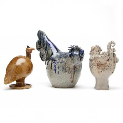 nc-folk-pottery-three-bird-figurines