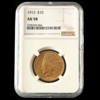 1913-10-gold-indian-head-eagle-ngc-au58