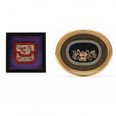 two-framed-asian-decorative-needlework-pieces