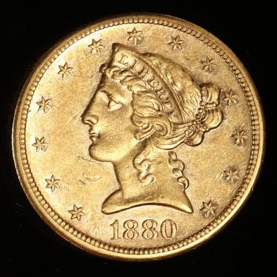 1880-s-5-gold-liberty-head-half-eagle