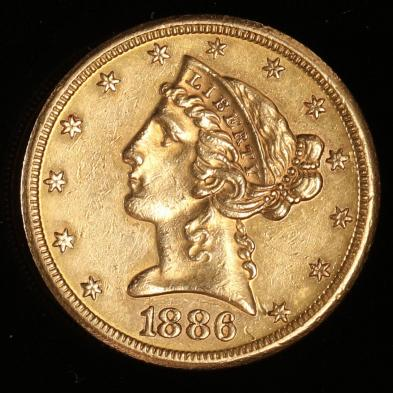 1886-s-5-gold-liberty-head-half-eagle