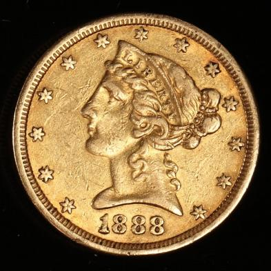 1888-s-5-gold-liberty-head-half-eagle