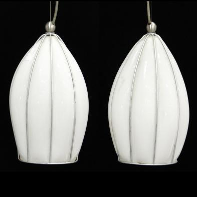pair-of-glass-and-metal-pendant-lights