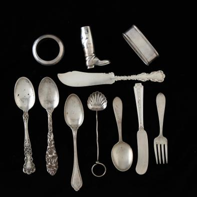 a-group-of-american-sterling-silver-flatware-novelties