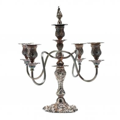 a-rococo-revival-silverplate-five-light-candelabrum