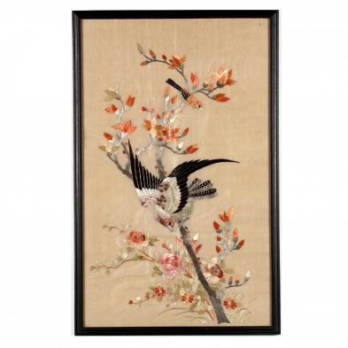 a-framed-asian-embroidered-bird-and-flower-panel