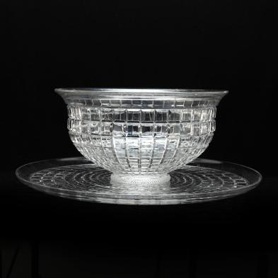 heisey-glass-punch-bowl-and-underplate