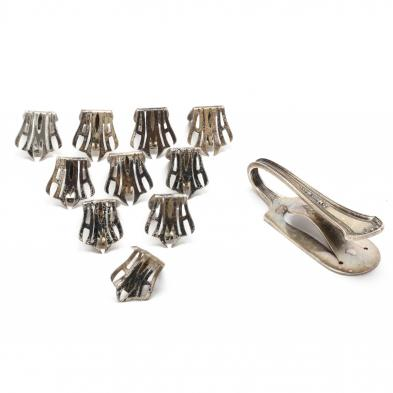 a-sterling-silver-napkin-clip-and-set-of-ten-place-card-holders