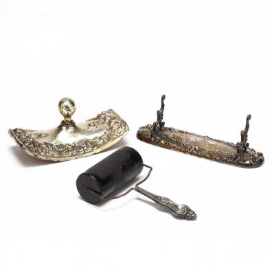 three-antique-sterling-silver-desk-accessories
