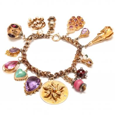 vintage-14kt-gold-charm-bracelet-with-charms