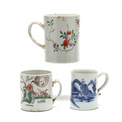 three-chinese-export-porcelain-mugs
