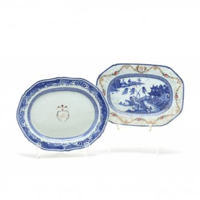 two-antique-chinese-export-diminutive-platters