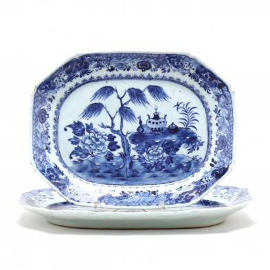 two-chinese-export-porcelain-platters