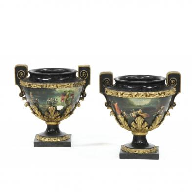 pair-of-continental-carved-and-painted-urns