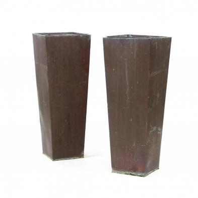 smith-and-hawken-pair-of-copper-tall-planters