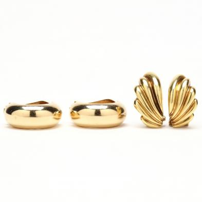 two-pairs-of-gold-earrings