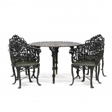 victorian-cast-iron-garden-table-and-chairs