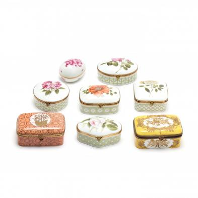 a-group-of-eight-porcelain-trinket-boxes