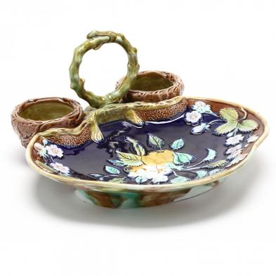 majolica-strawberry-dish