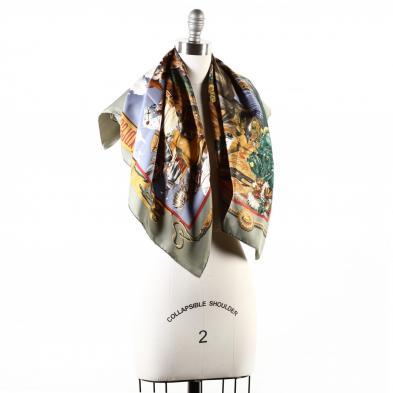 silk-scarf-the-pony-express-hermes