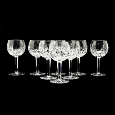 waterford-group-of-eight-lismore-balloon-wine-glasses