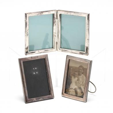 three-japanese-sterling-silver-picture-frames