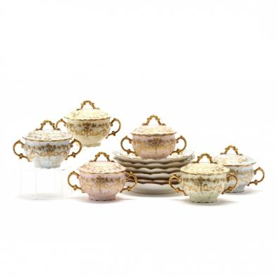 vintage-french-gilt-porcelain-pot-de-creme-service-for-six