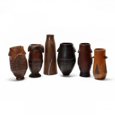 six-zulu-carved-milk-pails