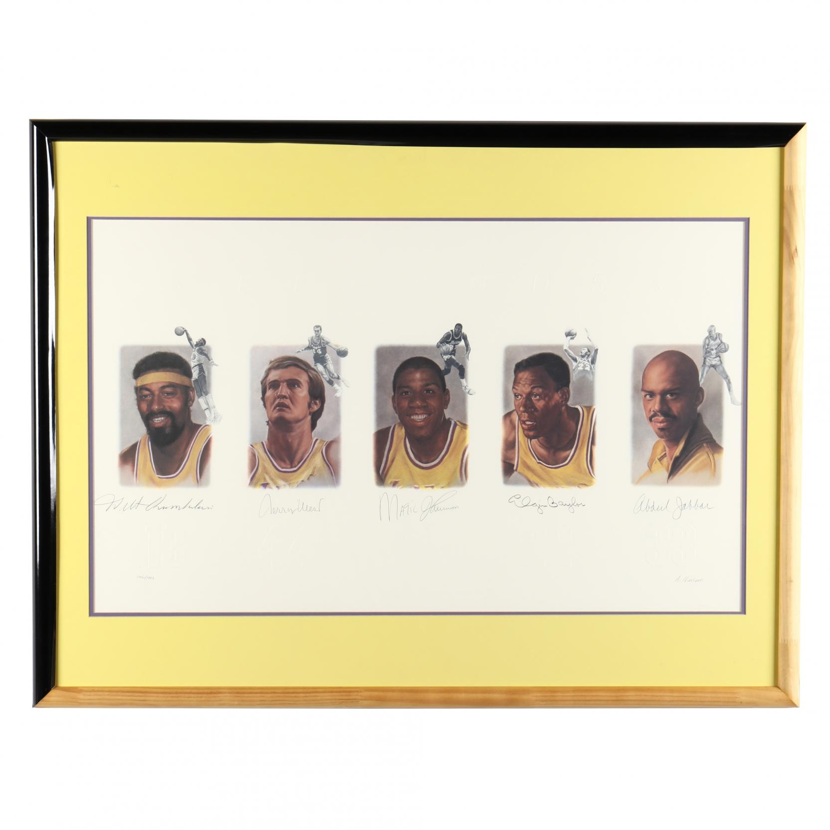 los-angles-lakers-legends-autographed-limited-edition-lithograph
