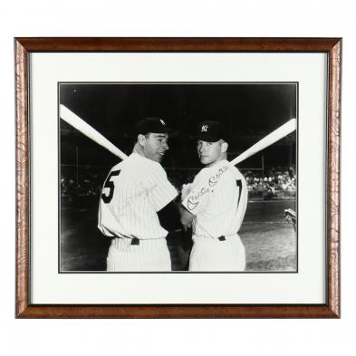 mickey-mantle-and-joe-dimaggio-autographed-photograph