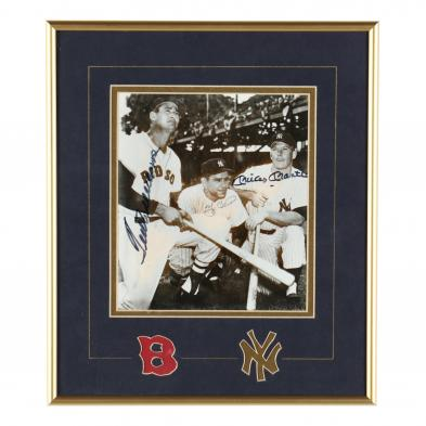 mickey-mantle-ted-williams-and-yogi-berra-signed-photograph