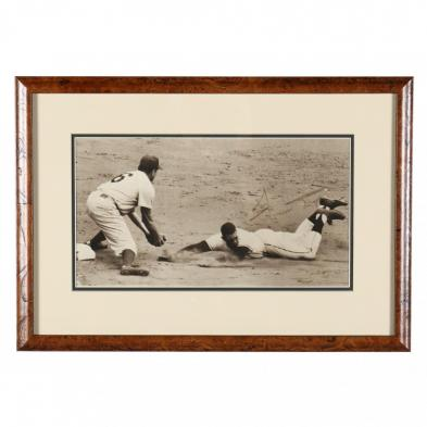 willie-mays-sliding-into-second-base-signed-photo