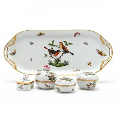 herend-rothschild-bird-dresser-tray-and-trinket-boxes