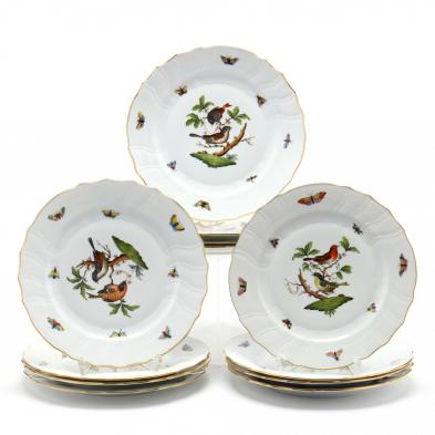 set-of-12-herend-rothschild-bird-dinner-plates