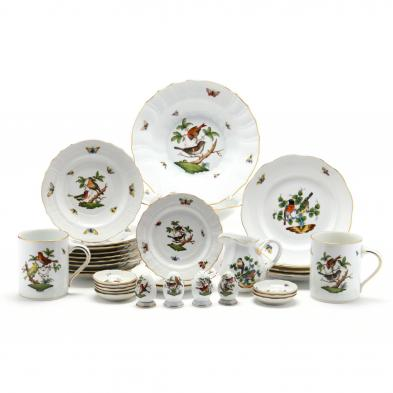 assorted-herend-rothschild-bird-tableware