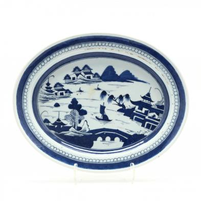 a-chinese-oval-blue-and-white-canton-platter