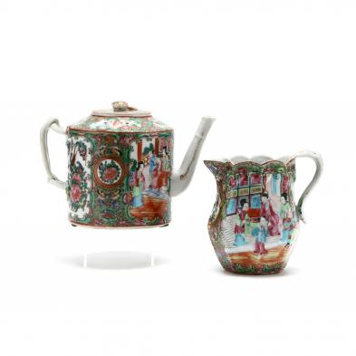 chinese-export-rose-mandarin-milk-pitcher-and-tea-pot