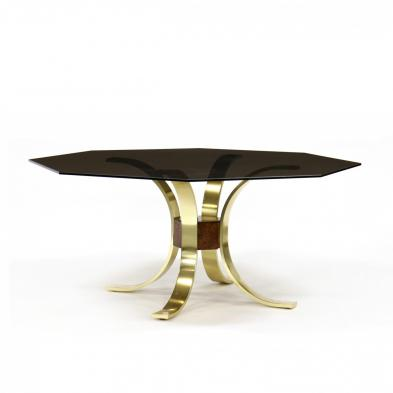 milo-baughman-style-brass-and-glass-dining-table